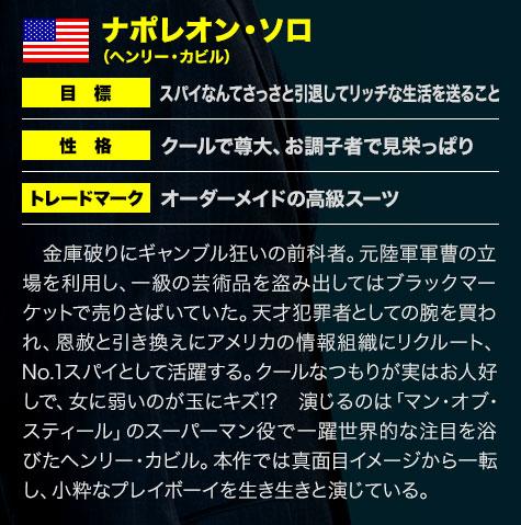 [アメリカ代表]ナポレオン・ソロ