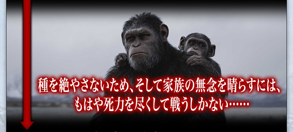種を絶やさないため、そして家族の無念を晴らすには、もはや死力を尽くして戦うしかない……