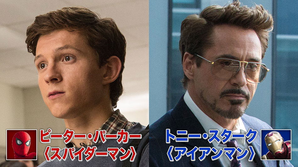 ピーター・パーカー〈スパイダーマン〉 トニー・スターク〈アイアンマン〉